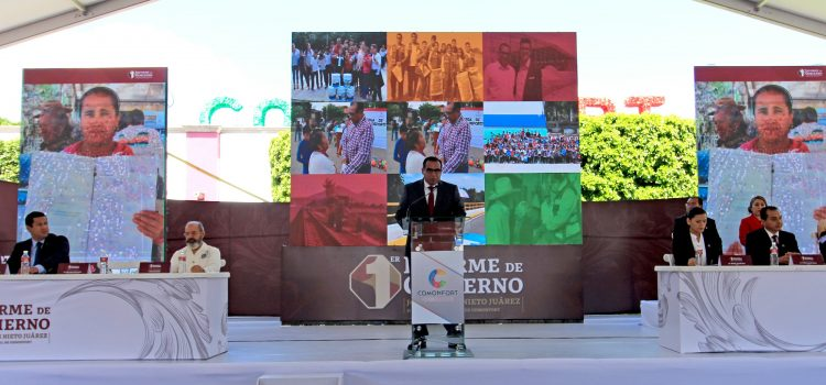 Presenta Carlos Nieto primer informe de actividades