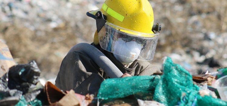 Controlan incendio en relleno sanitario sin afectaciones mayores