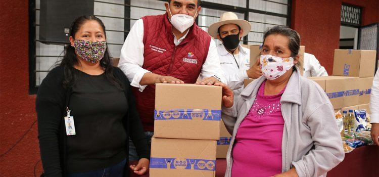 Entrega Gobierno más de 5 mil despensas y 10 mil apoyos alimentarios a comonforenses