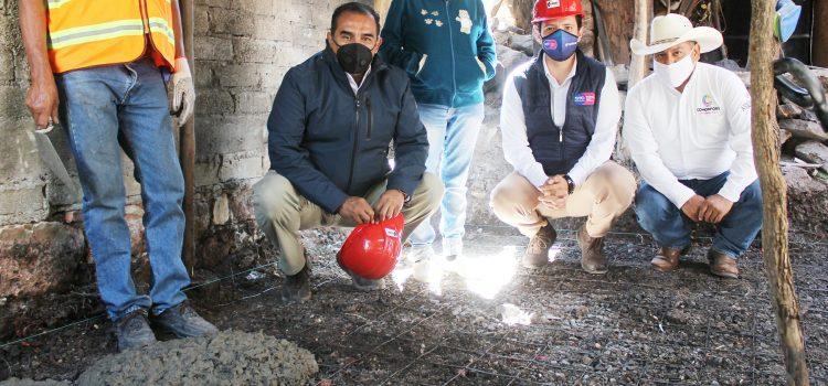 Inician Piso Firme y anuncian construcción de explanada en Pocitos de Corrales