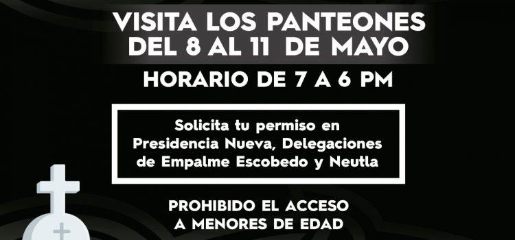Darán acceso restringido a panteones del 8 al 11 de mayo