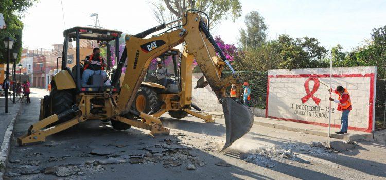 Inician pavimentación en Empalme Escobedo