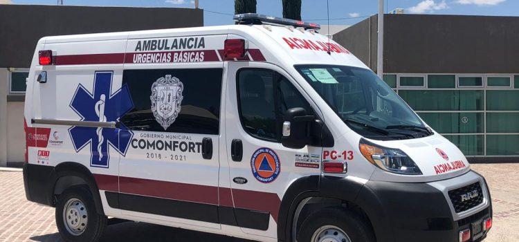 Se suma ambulancia a tareas de emergencia de Protección Civil
