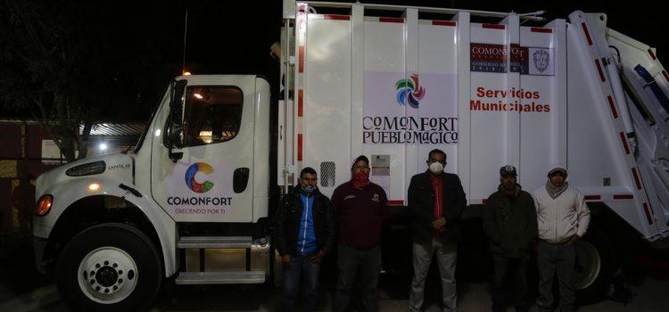 Con ahorros, adquiere administración municipal camión recolector