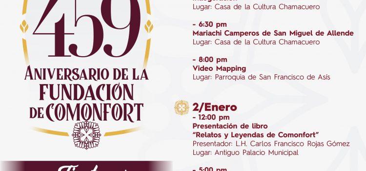 Festejarán 459 Aniversario de fundación de Comonfort