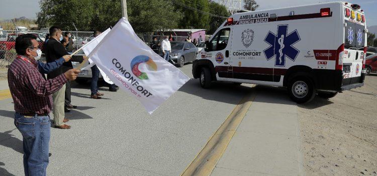 Entregan ambulancia para atención de urgencias médicas